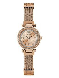 ゲス GUESS 腕時計 レディース U1009L3 GUESS Rose Gold-Tone Stainless Steel Wire Bangle Bracelet Watch, Color: Rose Gold-Tone (Model: U1009L3)ゲス GUESS 腕時計 レディース U1009L3
