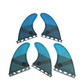 サーフィン フィン マリンスポーツ 【送料無料】UPSURF Surfboard fins k2.1 5fins Future Surfing fins Honeycomb Choose Color (Blue)サーフィン フィン マリンスポーツ