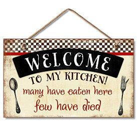 壁飾り インテリア タペストリー 壁掛けオブジェ 海外デザイン 41-00119-00-00 Highland Graphics Welcome to My Kitchen Decorative Wood Wall Plaque with Braided Rope for Hanging Red,壁飾り インテリア タペストリー 壁掛けオブジェ 海外デザイン 41-00119-00-00