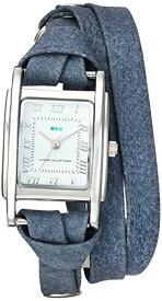 ラメールコレクションズ 腕時計 レディース LMMILWOOD010 La Mer Collections Women's Japanese-Quartz Watch with Leather Calfskin Strap, Blue, 7.9 (Model: LMMILWOOD010)ラメールコレクションズ 腕時計 レディース LMMILWOOD010