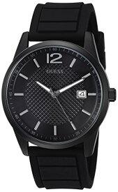 ゲス GUESS 腕時計 メンズ U0991G3 GUESS Men's Stainless Steel Casual Silicone Watch, Color: Black (Model: U0991G3)ゲス GUESS 腕時計 メンズ U0991G3