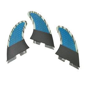 サーフィン フィン マリンスポーツ 【送料無料】UPSURF Surfboard Tri Fin FCS II S/M/L Size Carbon Fiberglass+Honeycomb Thruster Set (Blue G5)サーフィン フィン マリンスポーツ