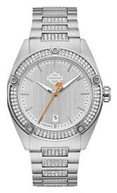 ブローバ 腕時計 レディース 76L187 【送料無料】Harley-Davidson Women's Crystal Embellished B&S Stainless Steel Watch 76L187ブローバ 腕時計 レディース 76L187