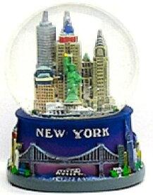 スノーグローブ 雪 置物 インテリア 海外モデル 【送料無料】New York Blue Snow Globe 106, New York City Souvenirs, New York City Giftsスノーグローブ 雪 置物 インテリア 海外モデル