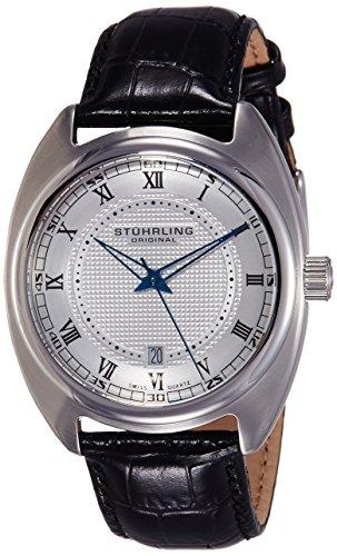 """ストゥーリングオリジナル 腕時計 メンズ 728.01 Stuhrling Original Men's 728.01 """"Aristocrat Twenty"""" Swiss Quartz Date Silver Dial Dress Watchストゥーリングオリジナル 腕時計 メンズ 728.01"""