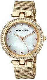 アンクライン 腕時計 レディース AK/2972MPGB 【送料無料】Anne Klein Women's AK/2972MPGB Swarovski Crystal Accented Gold-Tone Mesh Bracelet Watchアンクライン 腕時計 レディース AK/2972MPGB