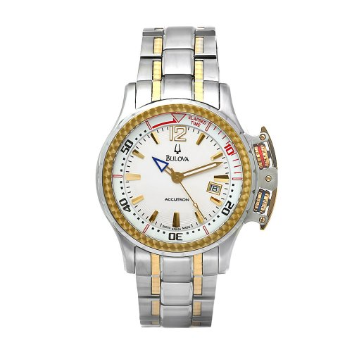 ブローバ 腕時計 メンズ 65B105 Bulova Men's 65B105 Accutron Two-Tone Elapsed Time White Dial Watchブローバ 腕時計 メンズ 65B105