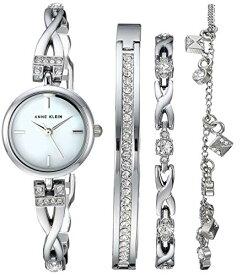 アンクライン 腕時計 レディース AK/3083SVST 【送料無料】Anne Klein Women's Swarovski Crystal Accented Silver-Tone Watch and Bracelet Setアンクライン 腕時計 レディース AK/3083SVST