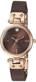 アンクライン 腕時計 レディース AK/3003RGBN 【送料無料】Anne Klein Women's Quartz Metal and Stainless Steel Dress Watch, Color:Brownアンクライン 腕時計 レディース AK/3003RGBN