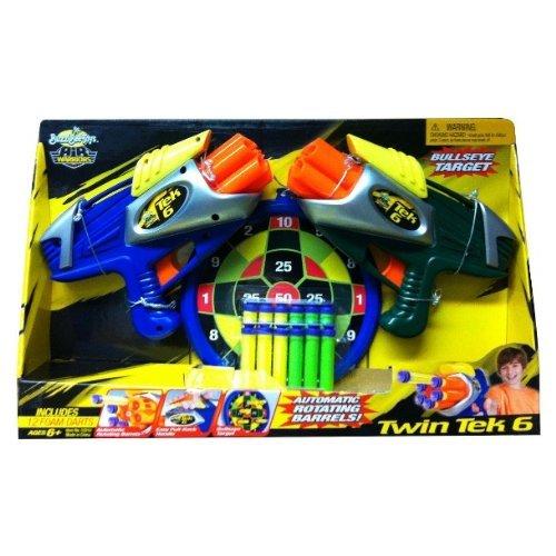 バズビー ブラスター アメリカ 直輸入 ソフトダーツ BuzzBee Air Warriors Twin Tek 6 Air Blasters + 12 Foam Darts by Buzz Beeバズビー ブラスター アメリカ 直輸入 ソフトダーツ