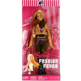 バービー バービー人形 日本未発売 Mattel Year 2007 Barbie FASHION FEVER Series 12 Inch Doll - BARBIE (L3325) with Butterfly Print Tops, Gold Color Jacket with Faux Fur Collar, Denim Pants, Purse and Shoesバービー バービー人形 日本未発売