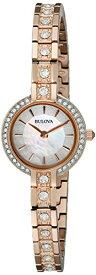 ブローバ 腕時計 レディース 98L215 Bulova Women's 98L215 Crystal Analog Display Quartz Rose Gold Watchブローバ 腕時計 レディース 98L215