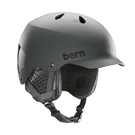 スノーボード ウィンタースポーツ 海外モデル ヨーロッパモデル アメリカモデル SM05E17MGR1 【送料無料】BERN, Winter Watts EPS Snow Helmet, Matte Grey with Black スノーボード ウィンタースポーツ 海外モデル ヨーロッパモデル アメリカモデル SM05E17MGR1