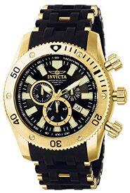 腕時計 インヴィクタ インビクタ シースパイダー メンズ 0140 【送料無料】Invicta Men's 0140 Sea Spider Collection 18k Gold Ion-Plated and Black Polyurethane Watch腕時計 インヴィクタ インビクタ シースパイダー メンズ 0140