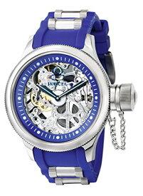 腕時計 インヴィクタ インビクタ メンズ 1089 【送料無料】Invicta Men's 1089 Russian Diver Skeleton Watch With Blue Polyurethane Band腕時計 インヴィクタ インビクタ メンズ 1089
