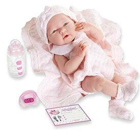 """ジェーシートイズ 赤ちゃん おままごと ベビー人形 18053 【送料無料】JC Toys La Newborn All-Vinyl-Anatomically Correct Real Girl 15"""" Baby Doll in Pink Knit Outfit and Accessories, Designed by Bジェーシートイズ 赤ちゃん おままごと ベビー人形 18053"""