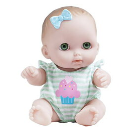 ジェーシートイズ 赤ちゃん おままごと ベビー人形 16936B 【送料無料】JC Toys Lil Cutesies All Vinyl Washable Doll Baby Doll, Green Eyes Bibiジェーシートイズ 赤ちゃん おままごと ベビー人形 16936B