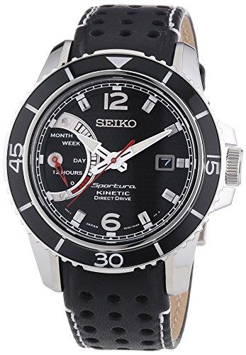 セイコー 腕時計 メンズ SRG019P2 Seiko SRG019P2 Men's Sportura,Kinetic Direct Drive,Stainless Steel Case And Leather, WRセイコー 腕時計 メンズ SRG019P2