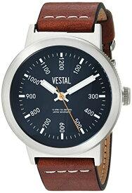 腕時計 ベスタル ヴェスタル メンズ SLR443L01.LBWH 【送料無料】Vestal Men's Retrofocus Stainless Steel Japanese-Quartz Watch with Leather Strap, Brown, 21.7 (Model: SLR443L01.LBWH)腕時計 ベスタル ヴェスタル メンズ SLR443L01.LBWH