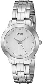 ゲス GUESS 腕時計 レディース U0989L4 GUESS Women's Stainless Steel Petite Casual Watch, Color: Brushed Silver-Tone (Model: U0989L4)ゲス GUESS 腕時計 レディース U0989L4