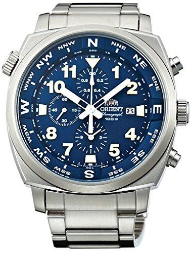 オリエント 腕時計 メンズ FTT17002D ORIENT Sporty Quartz Chronograph 100M Pilot Watch Blue TT17002Dオリエント 腕時計 メンズ FTT17002D