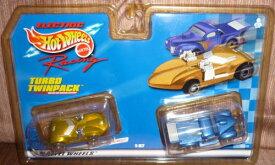 ホットウィール マテル ミニカー ホットウイール 【送料無料】Hot Wheels #96628 Electric Racing Turbo Twinpack,Twin Mill and Custom Pickup 1/87 Scale Slot Carsホットウィール マテル ミニカー ホットウイール