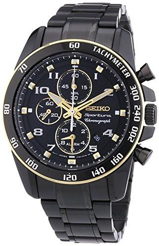 セイコー 腕時計 メンズ Seiko watches Sportura SNAF34P1 42mm Ion Plated Stainless Steel Case Men'sセイコー 腕時計 メンズ