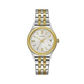 ブローバ 腕時計 レディース 45M112 Caravelle Women's Quartz Watch with Stainless-Steel Strap, Two Tone, 16 (Model: 45M112)ブローバ 腕時計 レディース 45M112