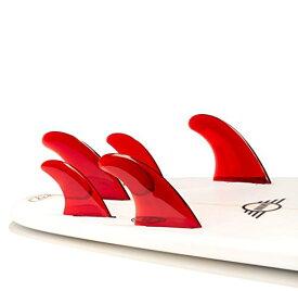 サーフィン フィン マリンスポーツ FIVE-RED- 【送料無料】DORSAL Performance Flexrez Surfboard Thruster/Quad Surf Fins (5) FCS Compatible Redサーフィン フィン マリンスポーツ FIVE-RED-