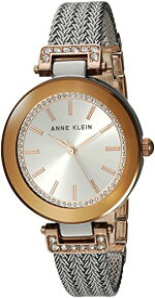 アンクライン 腕時計 レディース AK/1907SVRT 【送料無料】Anne Klein Women's Swarovski Crystal Accented Rose Gold-Tone and Silver-Tone Mesh Bracelet Watchアンクライン 腕時計 レディース AK/1907SVRT