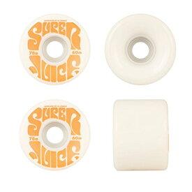 ウィール タイヤ スケボー スケートボード 海外モデル 【送料無料】OJ Wheels Super Juice White / Orange Longboard Skateboard Wheels - 60mm 78a (Set of 4)ウィール タイヤ スケボー スケートボード 海外モデル