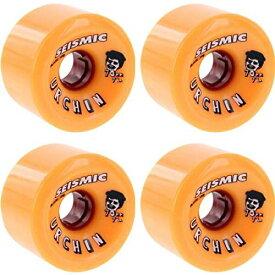 ウィール タイヤ スケボー スケートボード 海外モデル 【送料無料】Seismic Skate Systems Urchin BlackOps Orange Skateboard Wheels - 70mm 78.5a (Set of 4)ウィール タイヤ スケボー スケートボード 海外モデル