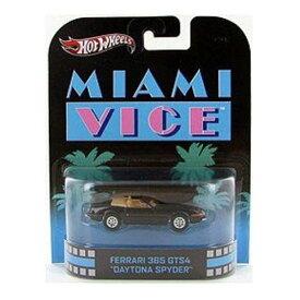 """ホットウィール マテル ミニカー ホットウイール 【送料無料】Hot Wheels Retro Miami Vice 1:55 Die Cast Car Ferrari 365 GTS4 """"Daytona Spyder""""ホットウィール マテル ミニカー ホットウイール"""