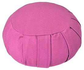 ヨガ フィットネス 【送料無料】YogaAccessories Round Cotton Zafu Meditation Cushion - Pinkヨガ フィットネス