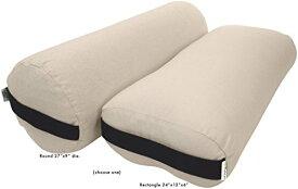 ヨガ フィットネス Bean Products Pranayama Yoga Bolster - Cotton - Naturalヨガ フィットネス