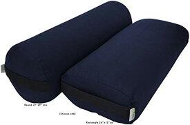 ヨガ フィットネス Bean Products Pranayama Yoga Bolster - Cotton - Navyヨガ フィットネス