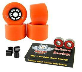 ウィール タイヤ スケボー スケートボード 海外モデル 【送料無料】Owlsome 83mm Wheels Longboard Flywheels ABEC 7 Precision Bearings (Orange)ウィール タイヤ スケボー スケートボード 海外モデル