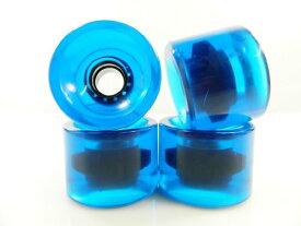 ウィール タイヤ スケボー スケートボード 海外モデル 【送料無料】60mm Gel Solid Color Longboard Skateboard Wheels (Gel Blue)ウィール タイヤ スケボー スケートボード 海外モデル