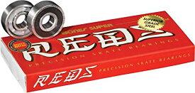 ベアリング スケボー スケートボード 海外モデル 直輸入 BSACSR88 【送料無料】Bones Super Reds Skateboard Bearings 8 Packベアリング スケボー スケートボード 海外モデル 直輸入 BSACSR88