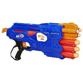 【送料無料】ナーフ Nerf Nストライク エリート デュアルストライクブラスター B4619 米国Hasbro版 オレンジトリガーエリートダーツ&メガダーツ発射
