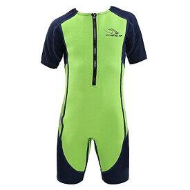 シュノーケリング マリンスポーツ SJ21331042Y 【送料無料】Aqua Sphere Stingray Short Sleeve Wet Suit, Green/Blue, Size 02シュノーケリング マリンスポーツ SJ21331042Y