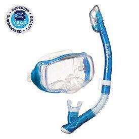 シュノーケリング マリンスポーツ UC-3325-FB 【送料無料】TUSA Sport Adult Imprex 3D Purge Mask and Dry Snorkel Combo, Fishtail Blueシュノーケリング マリンスポーツ UC-3325-FB