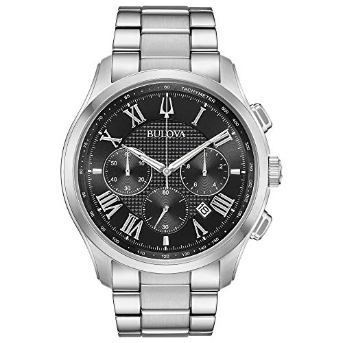 ブローバ 腕時計 メンズ Bulova Classic Wilton Black Dial Stainless Steel Men's Watch 96B288ブローバ 腕時計 メンズ