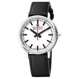 腕時計 モンディーン 北欧 スイス メンズ 【送料無料】Mondaine Men's SBB Stainless Steel Swiss-Quartz Watch with Leather Strap, Black (Model: MST.4101B.LB)腕時計 モンディーン 北欧 スイス メンズ