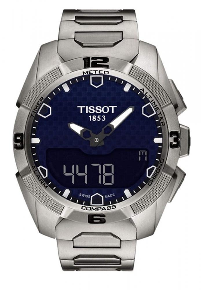 ティソ 腕時計 メンズ Tissot T091.420.44.041.00 T-Touch Expert Solar Blue Dial Titanium Men's Watchティソ 腕時計 メンズ