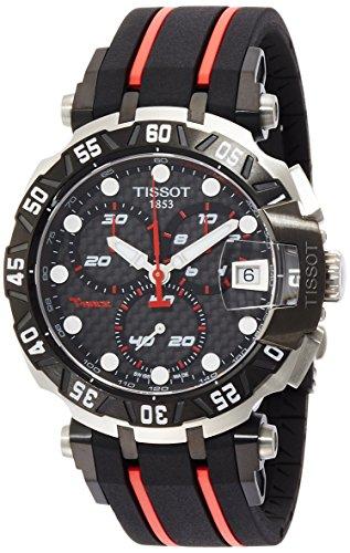 ティソ 腕時計 メンズ Tissot Men's T-Race T0924172720100 Black Rubber Swiss Chronograph Watchティソ 腕時計 メンズ