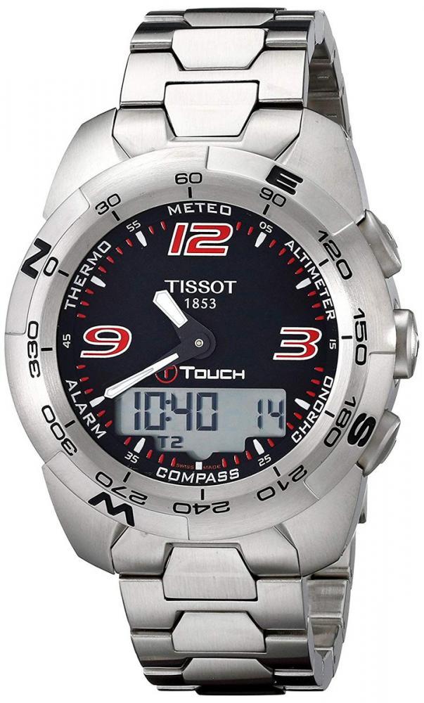 ティソ 腕時計 メンズ Tissot Men's T0134201105700 T-Touch Expert Stainless Steel Black Dial Watchティソ 腕時計 メンズ