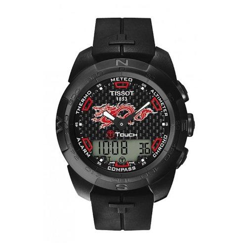 ティソ 腕時計 メンズ Tissot Men's 'T-Touch Expert' Swiss Quartz Titanium and Rubber Casual Watch, Color:Black (Model: T0134204720101)ティソ 腕時計 メンズ