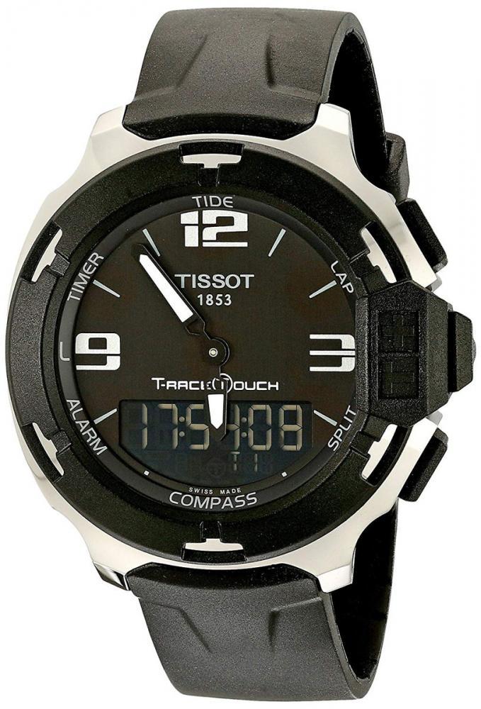 ティソ 腕時計 メンズ Tissot Men's TIST0814201705701 T-Race Black Stainless Steel Watch with Black Bandティソ 腕時計 メンズ