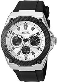 ゲス GUESS 腕時計 メンズ GUESS Comfortable Black Stain Resistant Silicone Watch with Day, Date + 24 Hour Military/Int'l Time. Color: Black (Model: U1049G3)ゲス GUESS 腕時計 メンズ